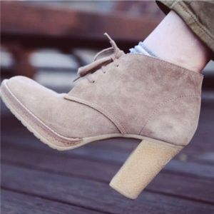 J. Crew MacAlister Suede Lace Up Heeled Booties